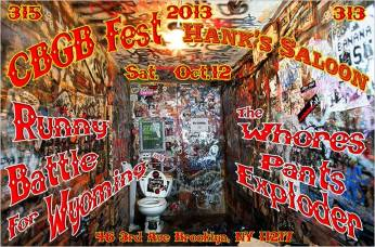 CBGB Fest @ Hank's Saloon w/ Battle For Wyoming, The Whores, and Pants Exploder - 10.12.2013