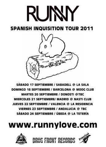 Spanish Inquisition Tour Flyer - 2011